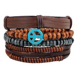 Jewelry - Fashion Handmade Assorted Leather Bracelets